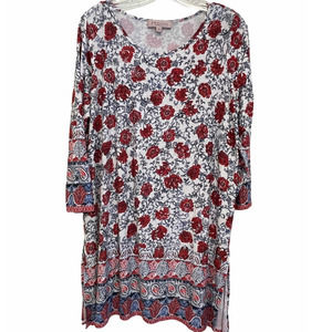 Philosophy Woman Floral Paisley Soft Knit Tunic 1X